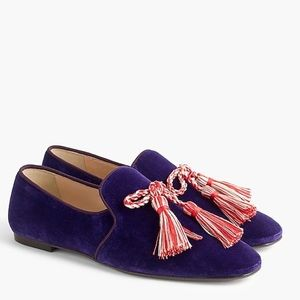 J. Crew Velvet Smoking Slippers, Style G8300